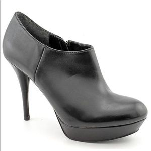 Marc Fisher Alright 3 Black Leather Booties